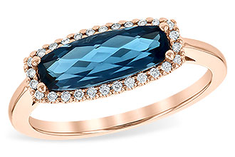 A226-41535: LDS RG 1.79 LONDON BLUE TOPAZ 1.90 TGW
