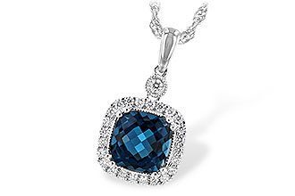 B225-46917: NECK 1.63 LONDON BLUE TOPAZ 1.80 TGW