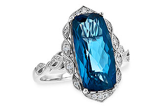 B226-37826: LDS RG 6.75 LONDON BLUE TOPAZ 6.90 TGW