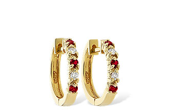 C037-30571: EARRINGS .17 RUBY .26 TGW