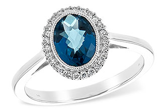 C225-46935: LDS RG 1.27 LONDON BLUE TOPAZ 1.42 TGW