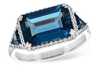 C226-38771: LDS RG 4.60 TW LONDON BLUE TOPAZ 4.82 TGW