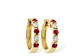 D037-30571: EARRINGS .33 RUBY .52 TGW