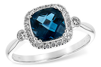E225-46935: LDS RG 1.62 LONDON BLUE TOPAZ 1.78 TGW