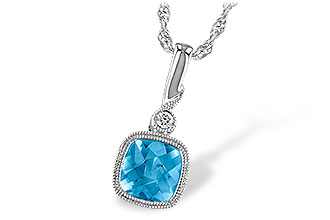 F222-79680: NECK 1.03 BLUE TOPAZ 1.05 TGW