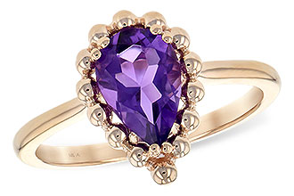H225-49707: LDS RING 1.06 CT AMETHYST