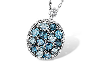 K223-67898: NECK 3.12 BLUE TOPAZ 3.41 TGW