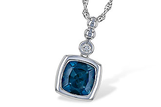 K226-39652: NECK 1.50 LONDON BLUE TOPAZ 1.54 TGW