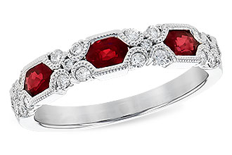K309-13289: LDS WED RG .74 RUBY 1.00 TGW