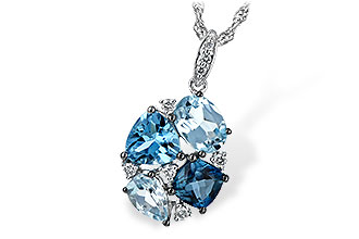 L225-46916: NECK 2.60 BLUE TOPAZ 2.70 TGW